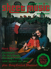 Christmas Cover of Sheet Music Magazine December 1979, Father & Child Playing Guitar (classic_film) Tags: seventies 1970s magazinecover vintage retro revista época ephemeral classic clásico color old music musik father man child kid guitar magazine daughter xmas christmas alt añejo american america holiday family girl home 1979