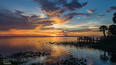 Sunset over Lake Washington (Michael Seeley) Tags: canon fl florida lake lakewashington landscape melbourne michaelseeley mikeseeley shoreline spacecoast sunset