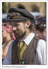 Victorian Steampunk (Paul Simpson Photography) Tags: steampunk victoriandress victorian lincoln steampunkfestival steempunkweekend steampunks paulsimpsonphotography sonya77 sonyphotography lincolnshire imagesof imageof photoof photosof august2017 asylum costume cosplay manwithabeard beardedman whiteshirt sunnyday thingstodoinlincolnshire