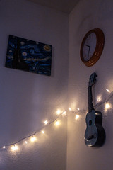(pierinnaniph) Tags: indie art painting vangoh decor interior desing guitar music lights decoration ukulele color colors dreamy country acoustic watch inspo roominspo inspiration trend young teen
