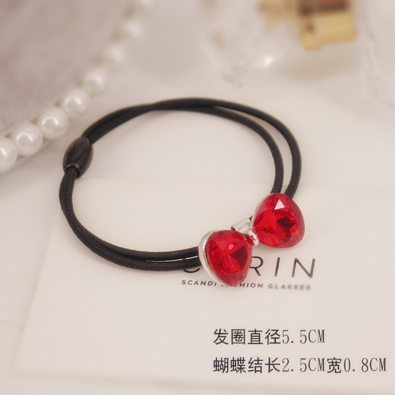 The original crystal butterfly rubber ring simple Korean hair rope Tousheng small hair ornament new personality