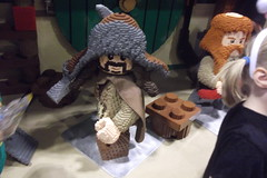 LEGO Bofur statue (splinky9000) Tags: fan expo toronto canada lego booth the hobbit an unexpected journey bagend bilbo baggins house lifesize model dwarves statue bofur