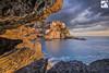 Manarola in the rocks (PhotoLeone Christian) Tags: laspezia liguria manarola cloud frame mare photoleone rocks scogli sea seascape seascapeliguria tramonto village
