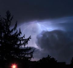 Waiting for the thunder (Robyn Hooz) Tags: temporale lampi lightning padova nube cloud storm electric rain pioggia tree albero