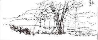 UK Napkin sketch Ambleside lunch
