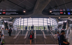 York University Station (dtstuff9) Tags: toronto ontario canada ttc transit commission york university subway station stairs
