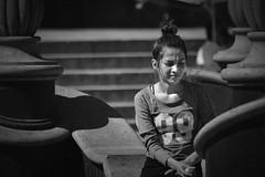 Pensamientos (ricdlacruz) Tags: arandas ciudad jalisco mexico persona mujer centro paseo pensamiento seriedad serenidad preocupación bw espera