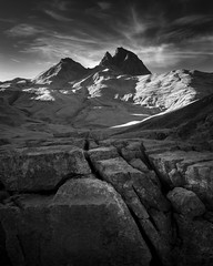 Cracked (Greg Whitton Photography) Tags: infrared sony a7 landscape mountains pyrenees colduportalet picdumididossau spain france epic clouds mono bw