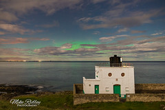 Full moon aurora ... (Mike Ridley.) Tags: auroraborialis aurora northumberland bamburghlighthouse bamburgh nature green blue fullmoon nightphotography astrophotographer astrophotography mikeridley sonya7s samyang24mmf14