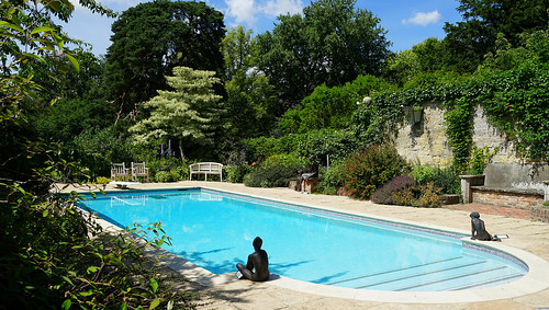 The pool at Pashley Manor