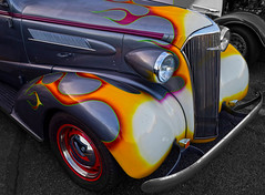 Variations on a Basic Theme (oybay©) Tags: chevrolet chevy car auto automobile scottsdale arizona unique unusual wheelcovers blue bleu curves rumbleseat rumble seat artdeco style class pavillions oldtimer old gorgeous beautiful color colors colorful blueish outdoor vehicle orange chandler chandlerharleydavidson custom customized lines wheel martinautomuseum
