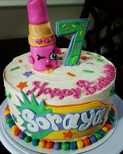 Lippy Lips Shopkins Birthday Cake