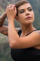 Allysen (austinspace) Tags: woman portrait postfalls idaho smoke summer forest fires river dusk dress