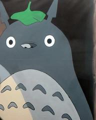 Totoro Backdrop (Detail) (edenpictures) Tags: miyazakiartshow hayaomiyazaki spokenyc spokeart artgallery galleryshow exhibit anime animation myneighbortotoro totoro