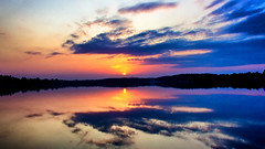 Floating Clouds (Bob's Digital Eye) Tags: 2017 bobsdigitaleye canon canonefs1855mmf3556isll clouds flicker flickr lake reflection silhouette sky sunset sunsetsoverwater t3i laquintaessenza