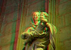 Notre Dame Paris 3D (wim hoppenbrouwers) Tags: anaglyph stereo redcyan notredame paris 3d
