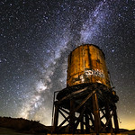 Milky Water: Milky Way and Old Railroad Water Tower thumbnail