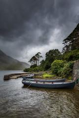 Doolough Rain (explored) (Hibernia Landscapes (sjwallace9)) Tags: mayo doolough ireland boat pier storm clouds