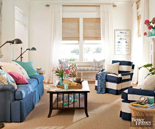 Living Room Decor : Live large by arranging your living room furniture in a space-saving way. Make s...