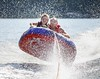 Water Flight (dshoning) Tags: 52weeksof2017 lake tubing water drops flying bouncing september lakepanorama