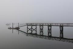 Dock in Fog (Read2me) Tags: fog harbor boat water morning dock pier reflection thechallengefactoryweeklythemewinner gamesweepwinner challengeyouwinner challengeclubwinner friendlychallenges challengegamewinner pregamesweepwinner pregameduelwinner perpetualchallengewinner 15challengeswinner gamex2