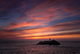 Sunset, Godrevy Lighthouse