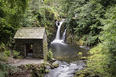 Rydal Beck Falls and Grot (JoshJackson84) Tags: canon60d sigma18250mm europe uk england cumbria lakedistrict lakes rydal rydalhall rydalbeck rydalbeckfalls waterfall falls grot hut grotto shed longexposure green nd10