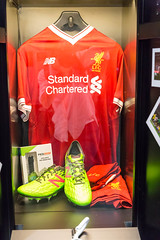 Liverpool FC 125 Year Anniversary Collection - Gamescom 2017, Cologne (marcoverch) Tags: indoors drinnen stock shopping einkaufen shop geschäft merchandise waren noperson keineperson business hanging hängend people menschen vertical vertikal option sale verkauf horizontal service bedienung food lebensmittel market markt fashion mode boutique outdoors drausen commerce handel liverpoolfc 125yearanniversarycollection lfc fujifilm duck cathedral candid auto lego feet fuji catwa baby