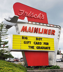 Frisch's Classic Mainliner Retro Restaurant - Ohio (Brett Streutker) Tags: restaurant cafe diner eatery food hamburger cheeseburger eat fast macdonalds burger vintage colonel sanders kentucky fried chicken big mac boy french fries pizza ice cream server tip money cash out dining cafeteria court table coffee tea serving steak shake malt pork fresh served desert pie cake spoon fork plate cup drive through car stand hot dog mustard ketchup mayo bun bread counter soda jerk owner dine carry deliver monochrome people