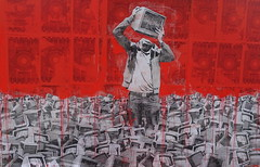Leo BOYD (BE'N 59. Street photographer) Tags: leoboyd tv addict streetart upfesr upfest2017 urbanart bristol streetartbristol