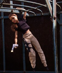 Hanging Shot (MaxxieJames) Tags: total conquest vittoria belmonte claude action movie man barbie doll mattel collector made move teresa brunette film dravin