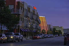 Bay City, Michigan walk about ~ 9-1-2017 (TAC.Photography) Tags: planetarium deltacollege street parking baycity dusk bluehour orange yellow color red tomclarkphotographycom tomclark tacphotography d7100