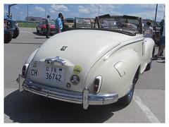 Peugeot 203 Convertible, 1955 (v8dub) Tags: peugeot 203 convertible 1955 cabrio cabriolet schweiz suisse switzerland fribourg freiburg french rare scarce pkw voiture car wagen worldcars auto automobile automotive old oldtimer oldcar klassik classic collector