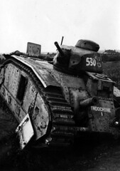 French heavy tank Char B1 bis No. 205 with the proper name Indochine, from the 15 BCC 17 may was fired by the French as the calculation 47-mm antitank guns, who mistook him for a German tank. In combat, the car was badly damaged and left on the battlefield.