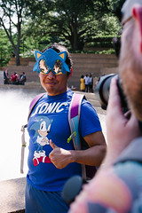 Gotta Go Fast (BurlapZack) Tags: pentaxk1 pentaxhddfa28105mmf3556eddcwr vscofilm pack01 fortworthtx fortworthwatergardens fortworthconventioncenter akon akon28 sonicthehedgehog sanic gottagofast comeonstepitup memes costume costumes cosplay thumbsup portrait bokeh photographer sunglasses shades sega animeconvention anime scificonvention goofin