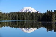 Mount Rainier and Dumbell Lake (jlcummins - Washington State) Tags: backpack hike pct pacificnorthwest pacificcresttrail washingtonstate lewiscounty williamodouglaswilderness lake dumbell
