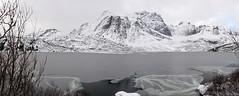 Summer's in our basement now (OR_U) Tags: 2017 norway lofoten panorama snow winter ice lake mountains landscape storvatnet