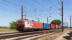 Comboio de contentores nº 69184 no Poceirão (João Pagaimo) Tags: railway medway freight mercadorias contentores container cp4700 poceirão siemenseurosprinter
