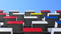 - looking up - (Jacqueline ter Haar) Tags: denhaag scheveningen hotel zwolsestraat destijl mondrianesque explore lookingup geometrie kleuren vlakken