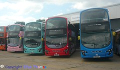 The Wright Colours (Efan Thomas Bus Spotting Photography) Tags: first eastern counties roundtree way depot wrightbus streetdeck sk16gvy 35199 volvo b9tl gemini eclipse bd11cfu 36171 bn12wny 36198 bd11cfz 36175