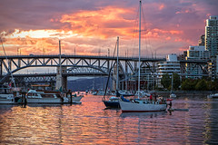 Tie One On ⛵🚣💜 Vancouver, BC (Michael Thornquist) Tags: falsecreek creek seawall sailboat dinghy tender yacht granvillebridge burrardbridge sunset clouds cloudporn vancouver britishcolumbia dailyhivevan vancitybuzz vancouverisawesome veryvancouver 604now photos604 explorecanada ilovebc vancouverbc vancouvercanada vancity pacificnorthwest pnw metrovancouver gvrd canada