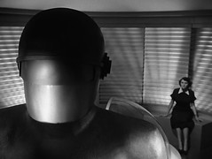"Lock Martin (Gort), Patricia Neal, ""The Day the Earth Stood Still,"" 1951 (classic_film) Tags: thedaytheearthstoodstill film movie scifi sciencefiction 1950s 1951 fifties cine cinema old vintage clásico classic nostalgia nostalgic patricianeal actress actrice actriz schauspielerin aktrice woman brunette retro añejo hollywood usa unitedstates época entertainment ephemeral beautiful beauty schön jahrgang alt oll película lockmartin"
