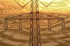 Electromagnetic waves (HSS) (explored) (Ruud.) Tags: ruudschreuder nikon nikond300 d300 energie energy electriciteitspaal hoogspanningsmast utility pole powerlijn stroomdraden power pylon highvoltage cable hightensionnetwork hightension network hochspannung hochspannungskabel hochspannungsmast netzwerk electromagnetische golven electromagnetic waves hss sliderssunday