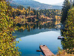 fall in (reserves13) Tags: river autumn washingtonstate easternwashington yellow orange serenity dock fall ione