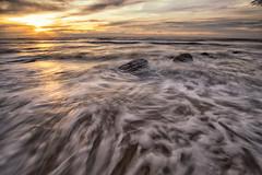 Sunset LE-4 (HardBreakKid) Tags: landscape brunei muara meragang sunset water rocks sky clouds long exposure bruneimuaradistrict