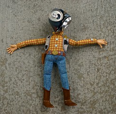 That Terrible Day Woody Got a Beer Can Smashed into His Face (ricko) Tags: woody doll toy beercan can smashed werehere 270365 2017