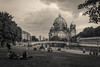 Wonderful view on Berlin cathedral (FSR Photography) Tags: fsrphotography de deutschland building monochrom himmel vignette outdoor canon gebäude clouds berlin kirche travel baumast blackandwhite sommer wasser blackwhite dom architektur schwarzweiss river schärfe fluss water photoshop 400d travelling flickr whiteblack black reise summer contrast baum monochrome reisefotographie church schwarz kontrast architecture sky lightroom fsr canon400d white 250v10f