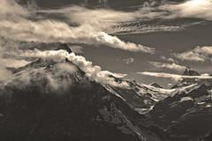 My Switzerland in Black and White .The Wetterhorn & the Finsteraarhorn .  Izakigur No. 8414. (Izakigur) Tags: switzerland svizzera lasuisse lepetitprince helvetia liberty izakigur flickr feel europe europa dieschweiz ch musictomyeyes nikkor nikon suiza suisse suisia schweiz suizo swiss سويسرا laventuresuisse myswitzerland landscape alps alpes alpen schwyz suïssa d700 nikond700 nikkor2470f28 berneroberland kantonbern