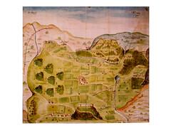 Mappa castel Beseno e il circondario di Folgaria, 1601