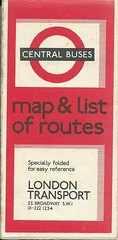 London Transport Central Buses 1969 Map & List of Routes (Faversham 2009) Tags: scan scanned document 1969 lt londontransport central buses bus map brochure